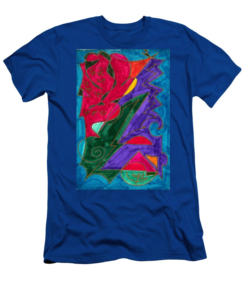 Healing Imprint Men's T-Shirt (Athletic Fit) featuring the mixed media Body Zero # 5 by Clarity Artists