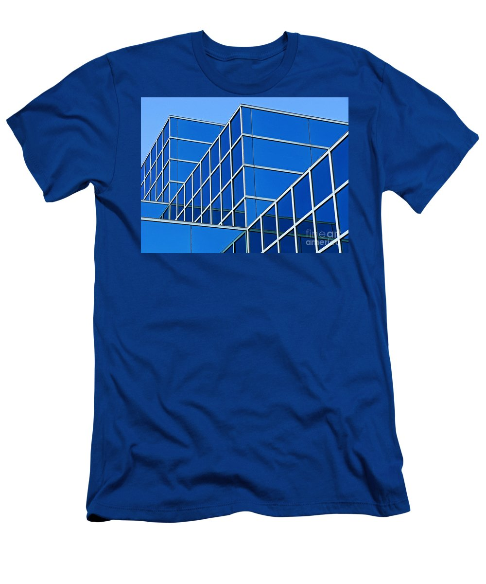 Building Men's T-Shirt (Athletic Fit) featuring the photograph Boldly Blue by Ann Horn