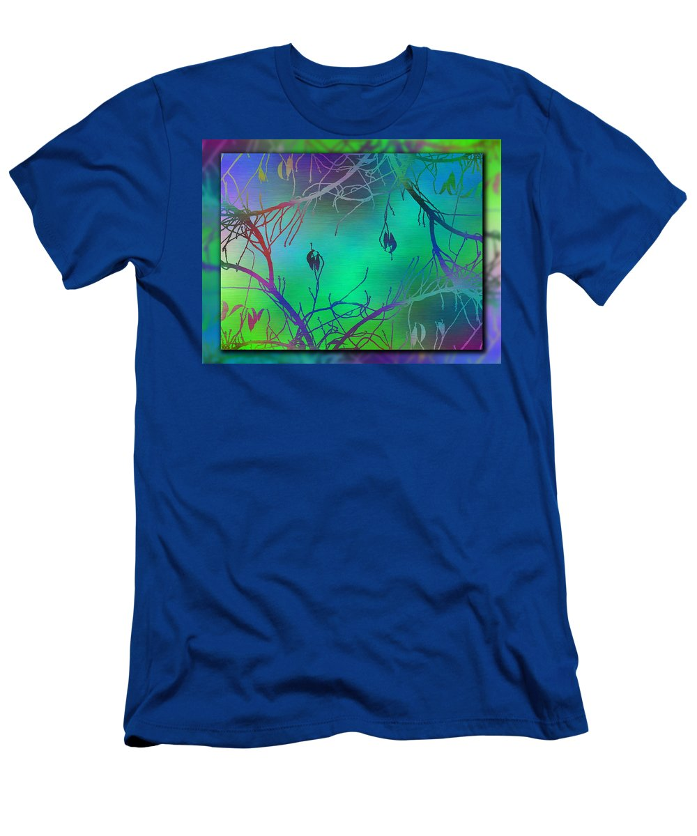 Abstract Men's T-Shirt (Athletic Fit) featuring the digital art Branches In The Mist 35 by Tim Allen