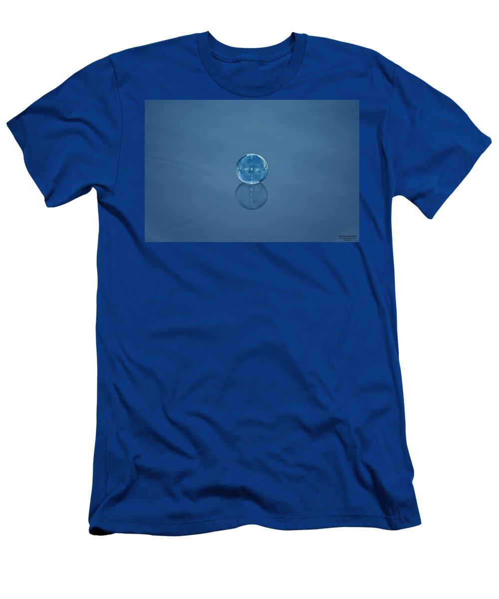 Bubble Men's T-Shirt (Athletic Fit) featuring the photograph Bubble Study 1 by Michael White
