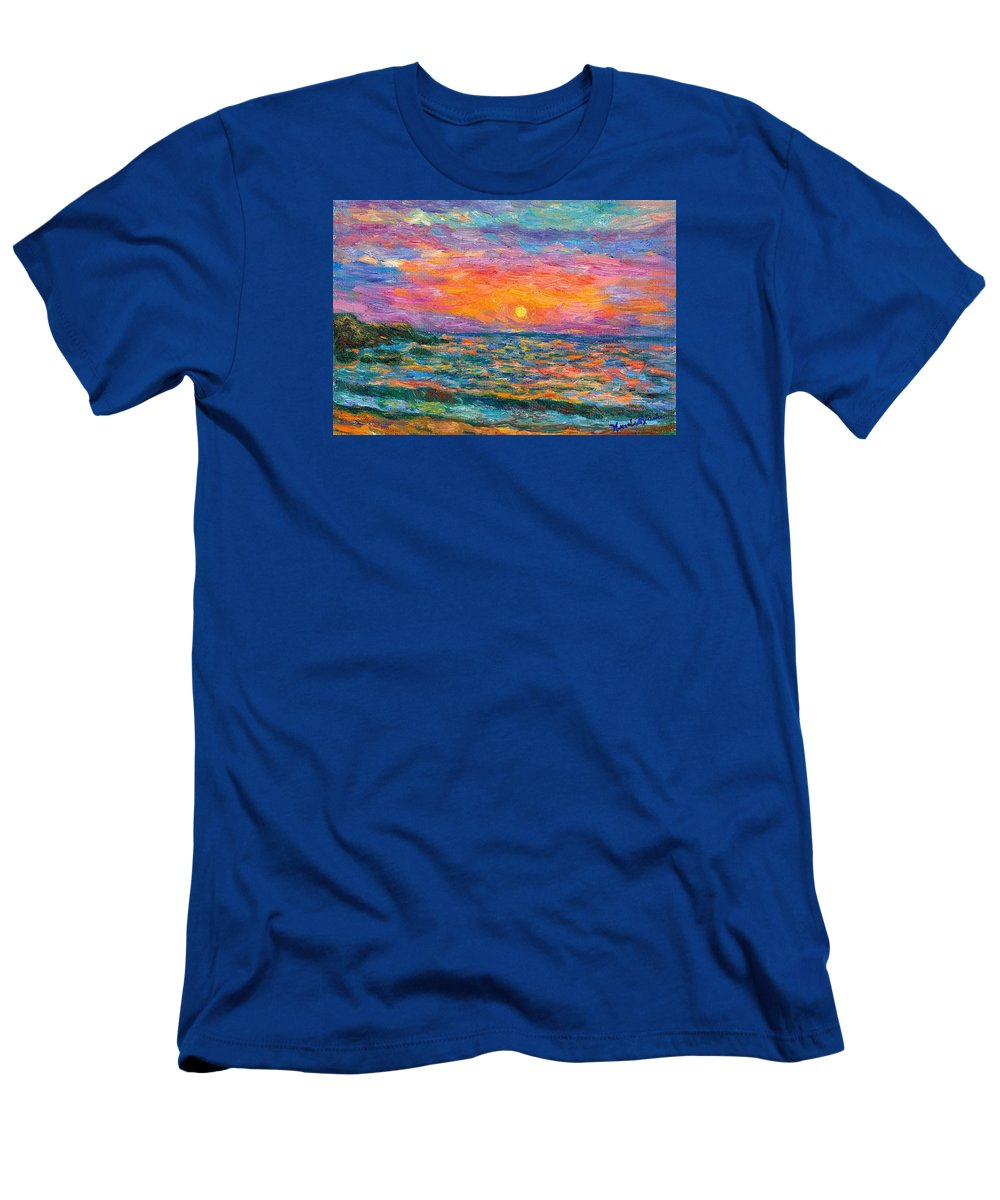 Ocean T-Shirt featuring the painting Burning Shore by Kendall Kessler