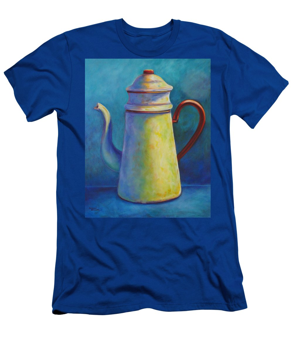 Coffee Men's T-Shirt (Athletic Fit) featuring the painting Cafe Au Lait by Shannon Grissom