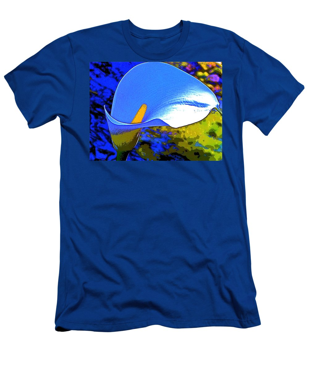 Flower Men's T-Shirt (Athletic Fit) featuring the photograph Calla Lily 5 by Pamela Cooper