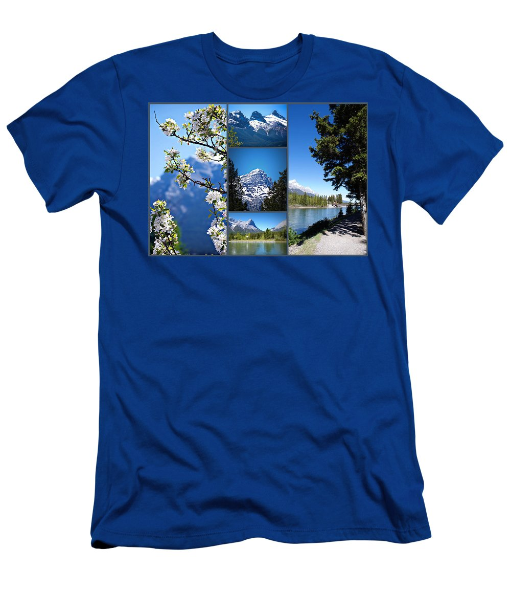 Canmore Men's T-Shirt (Athletic Fit) featuring the photograph Canmore Alberta by Lisa Knechtel
