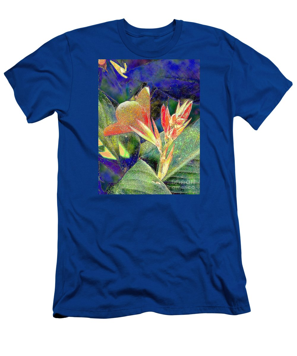 Diane Dimarco Art Men's T-Shirt (Athletic Fit) featuring the photograph Canna 1 by Diane DiMarco