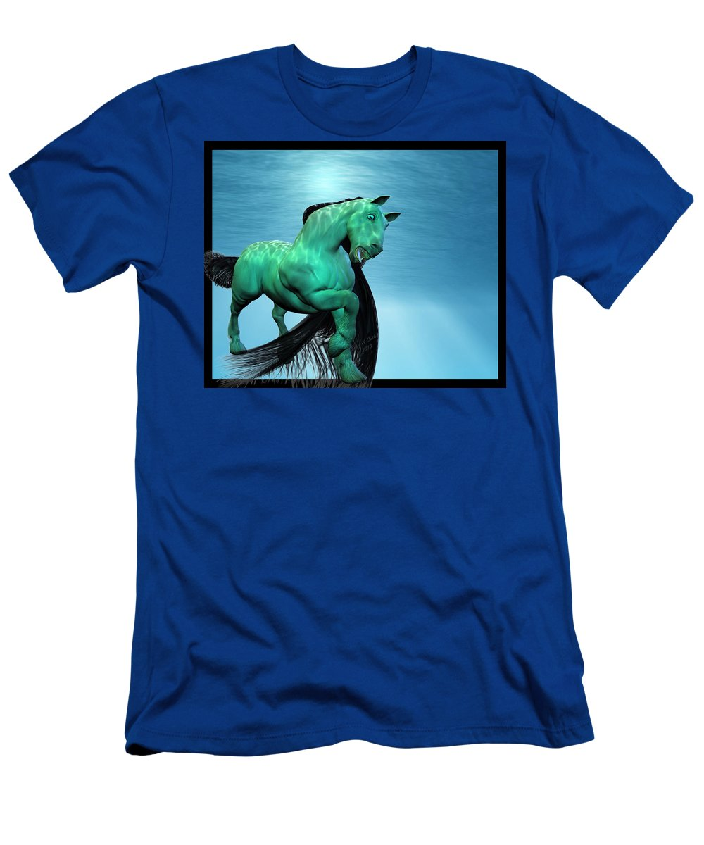 Horse Men's T-Shirt (Athletic Fit) featuring the digital art Carousel Vi by Betsy Knapp