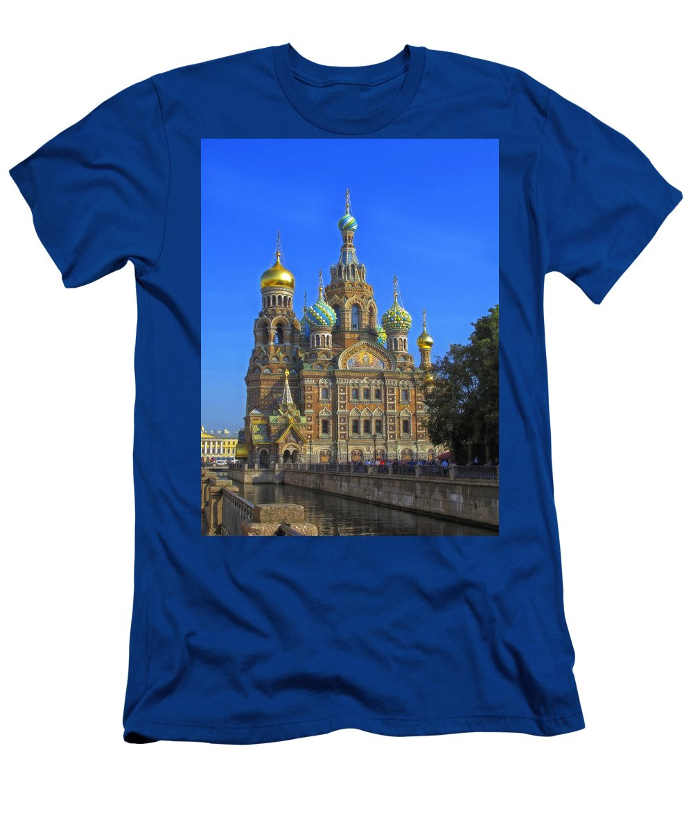 Asia Men's T-Shirt (Athletic Fit) featuring the photograph Cathedral Of Christ's Resurrection On Spilled Blood by Claudio Bacinello