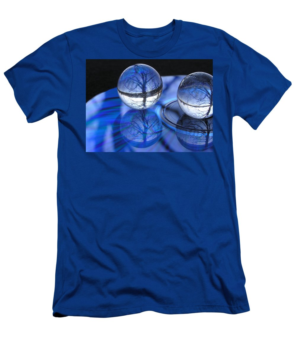 Trees Men's T-Shirt (Athletic Fit) featuring the photograph Caught In Time by Shannon Story