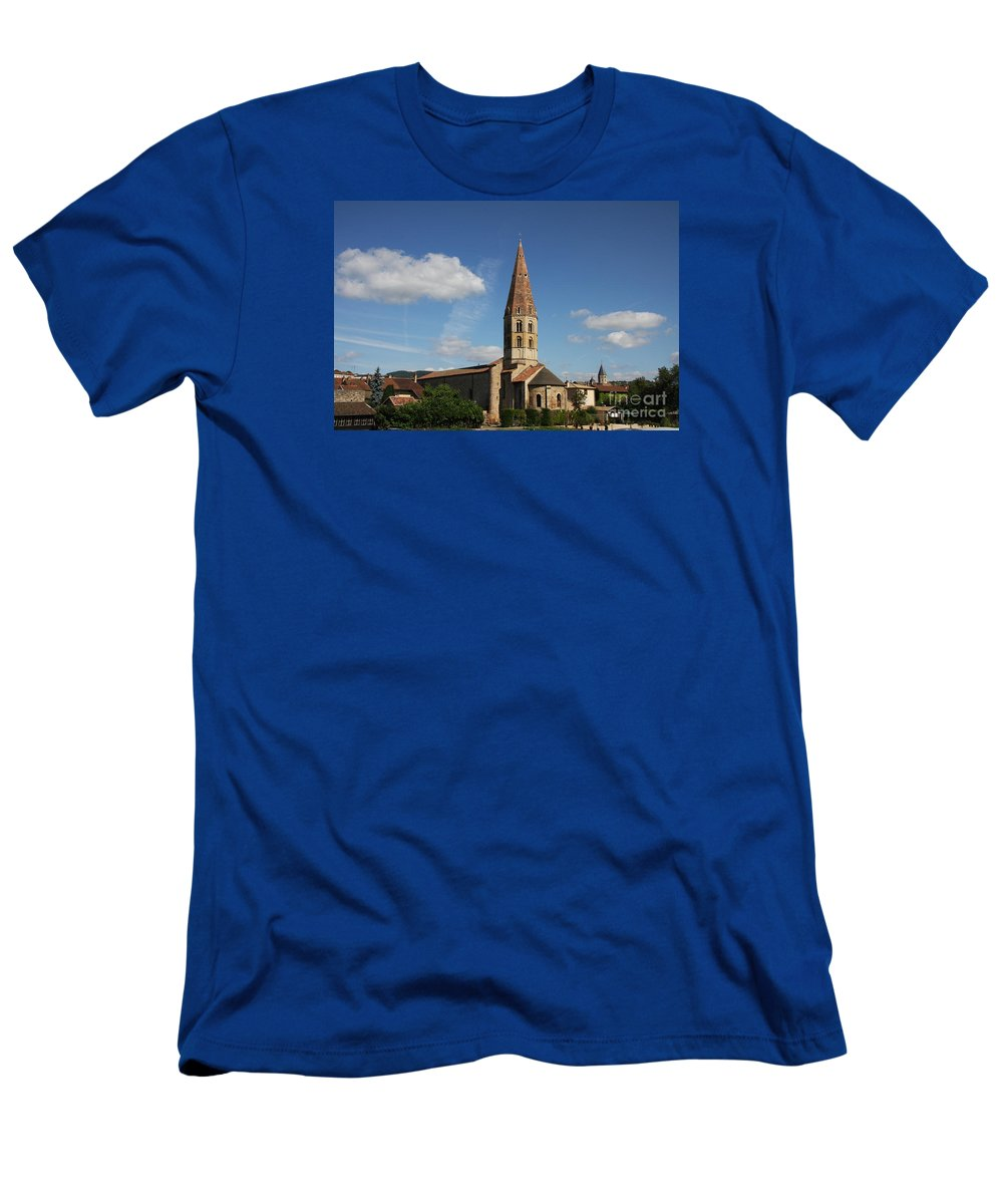 Church T-Shirt featuring the photograph Church Saint Marcel - Cluny by Christiane Schulze Art And Photography