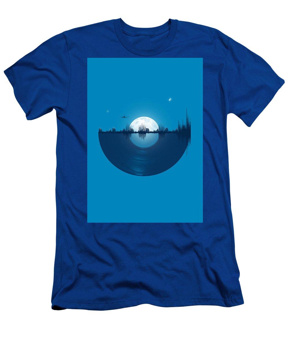 City T-Shirt featuring the digital art City tunes by Neelanjana Bandyopadhyay