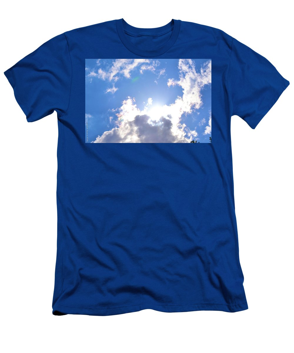 Clouds Men's T-Shirt (Athletic Fit) featuring the photograph Clouds With Sunshine by Tara Potts