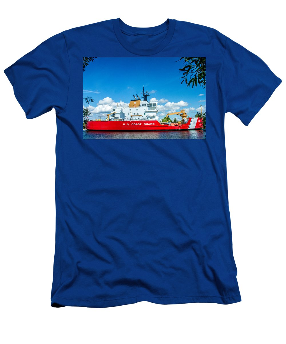 Coast Guard Men's T-Shirt (Athletic Fit) featuring the photograph Coast Guard Cutter Mackinaw by Bill Gallagher
