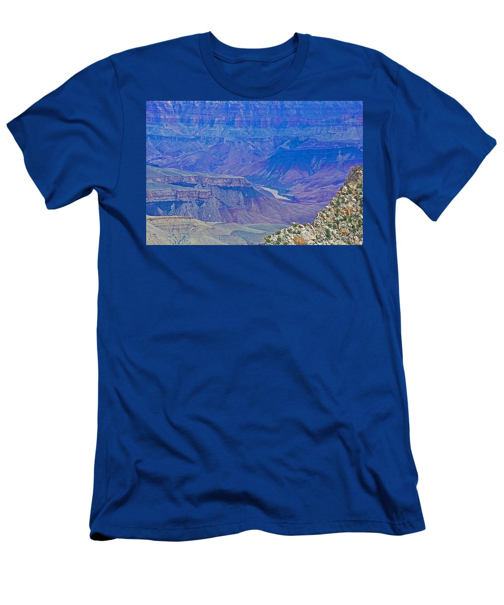 Colorado River Two At Cape Royal On North Rim/grand Canyon National Park Men's T-Shirt (Athletic Fit) featuring the photograph Colorado River Two At Cape Royal On North Rim Of Grand Canyon-arizona by Ruth Hager