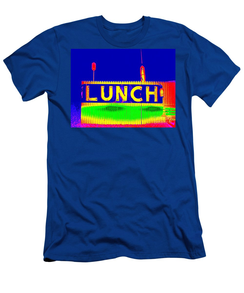 Pop Art Men's T-Shirt (Athletic Fit) featuring the photograph Colorful Lunch by Ed Weidman