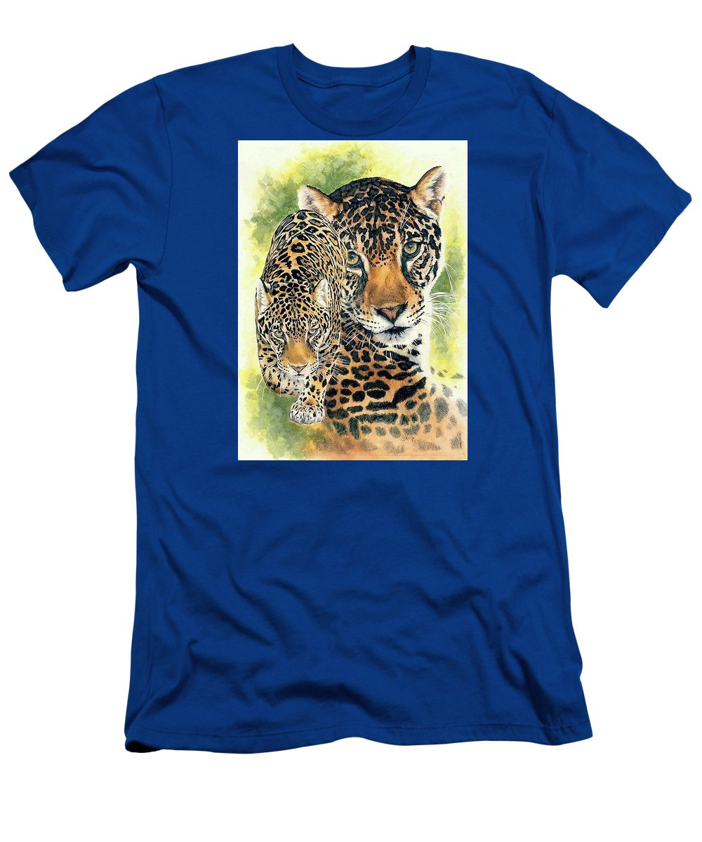 Jaguar T-Shirt featuring the mixed media Compelling by Barbara Keith