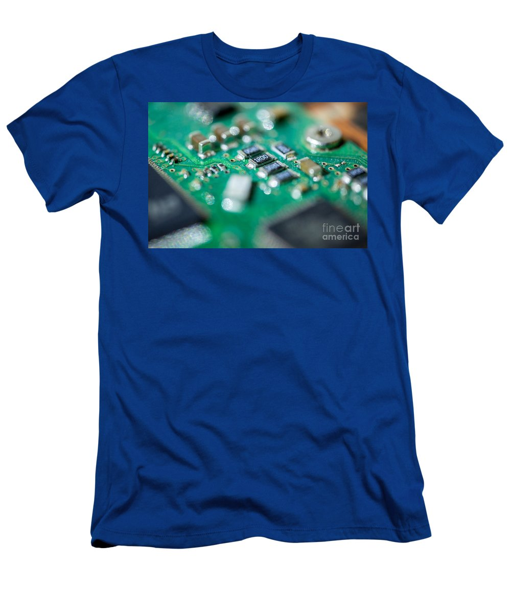 Iris Holzer Richardson Men's T-Shirt (Athletic Fit) featuring the photograph Computer Board by Iris Richardson