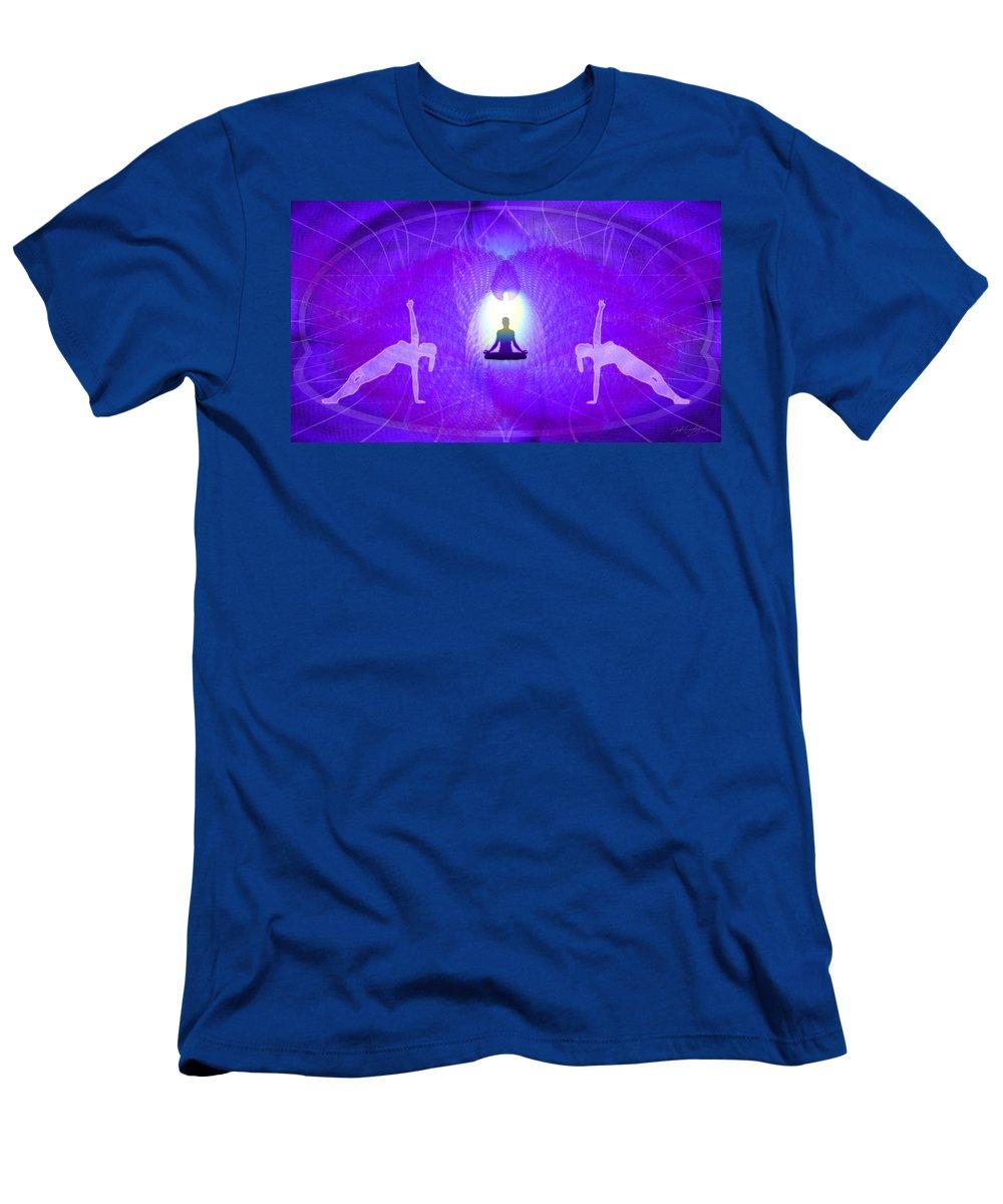 Cosmic Spiral Ascension Men's T-Shirt (Athletic Fit) featuring the digital art Cosmic Spiral Ascension 28 by Derek Gedney