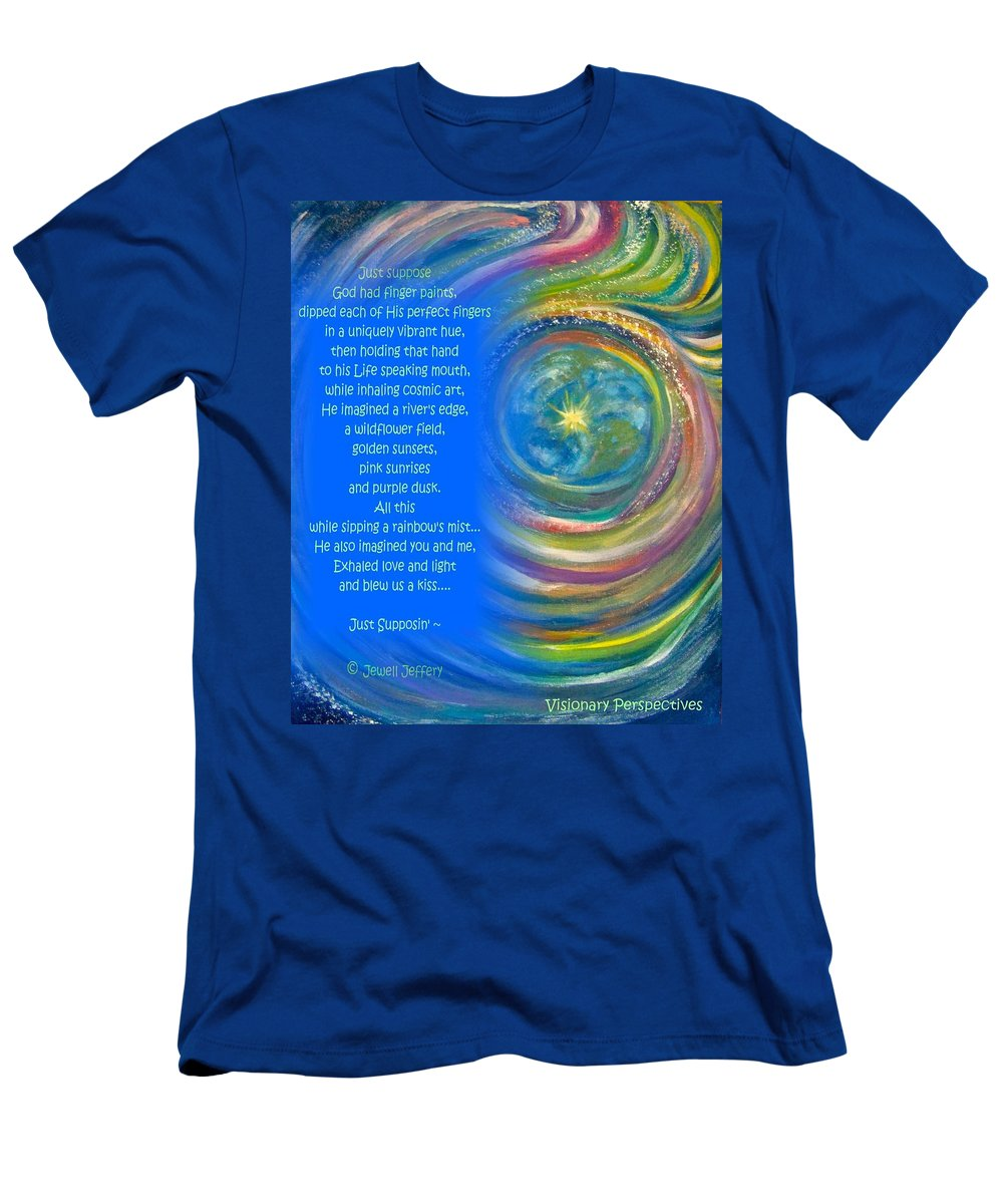 Whimsy Men's T-Shirt (Athletic Fit) featuring the digital art Creation by Jewell McChesney