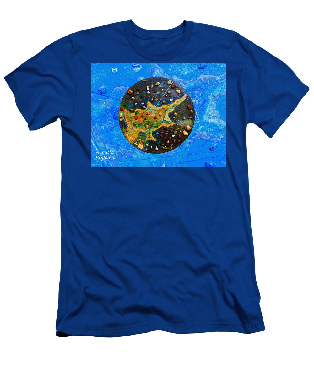 Augusta Stylianou Men's T-Shirt (Athletic Fit) featuring the painting Cyprus by Augusta Stylianou