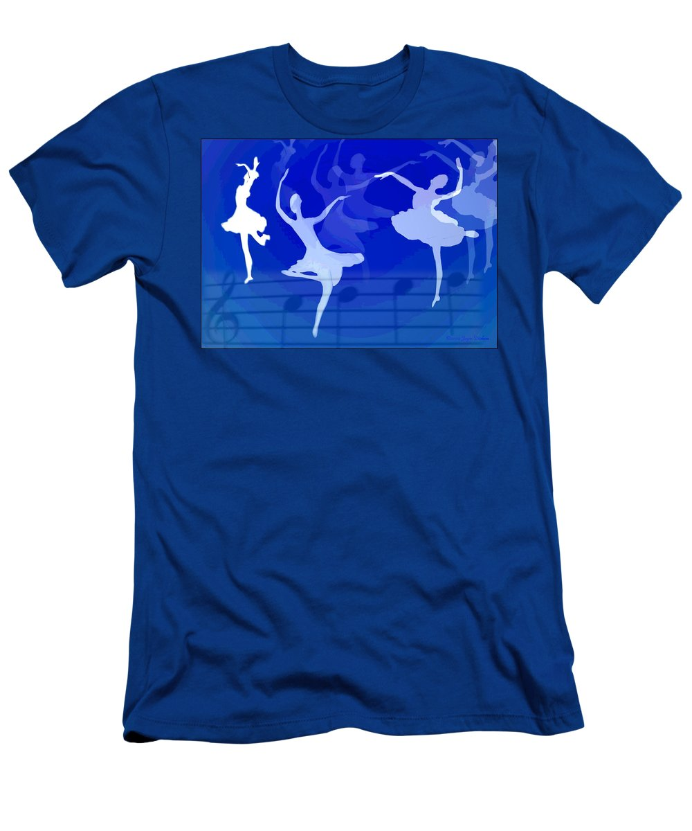 Ballet Men's T-Shirt (Athletic Fit) featuring the photograph Dance The Blues Away by Joyce Dickens