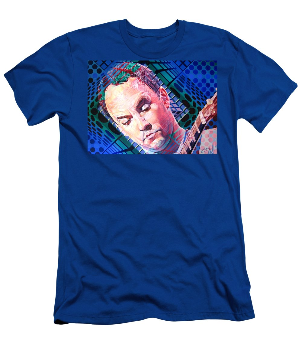 Dave Matthews Men's T-Shirt (Athletic Fit) featuring the painting Dave Matthews Open Up My Head by Joshua Morton