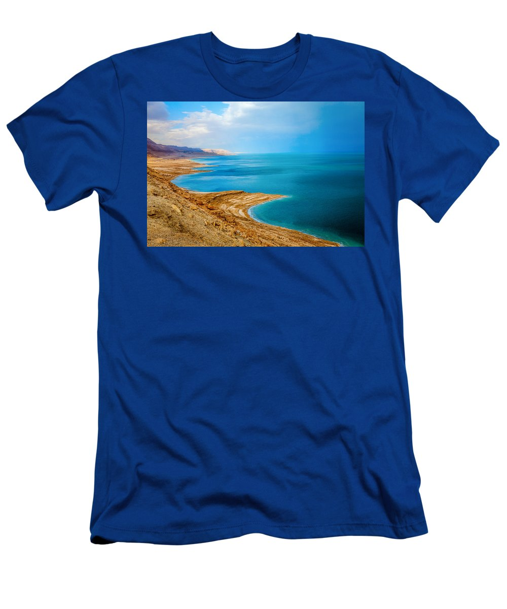 Dead Sea Men's T-Shirt (Athletic Fit) featuring the photograph Dead Sea by Alexey Stiop