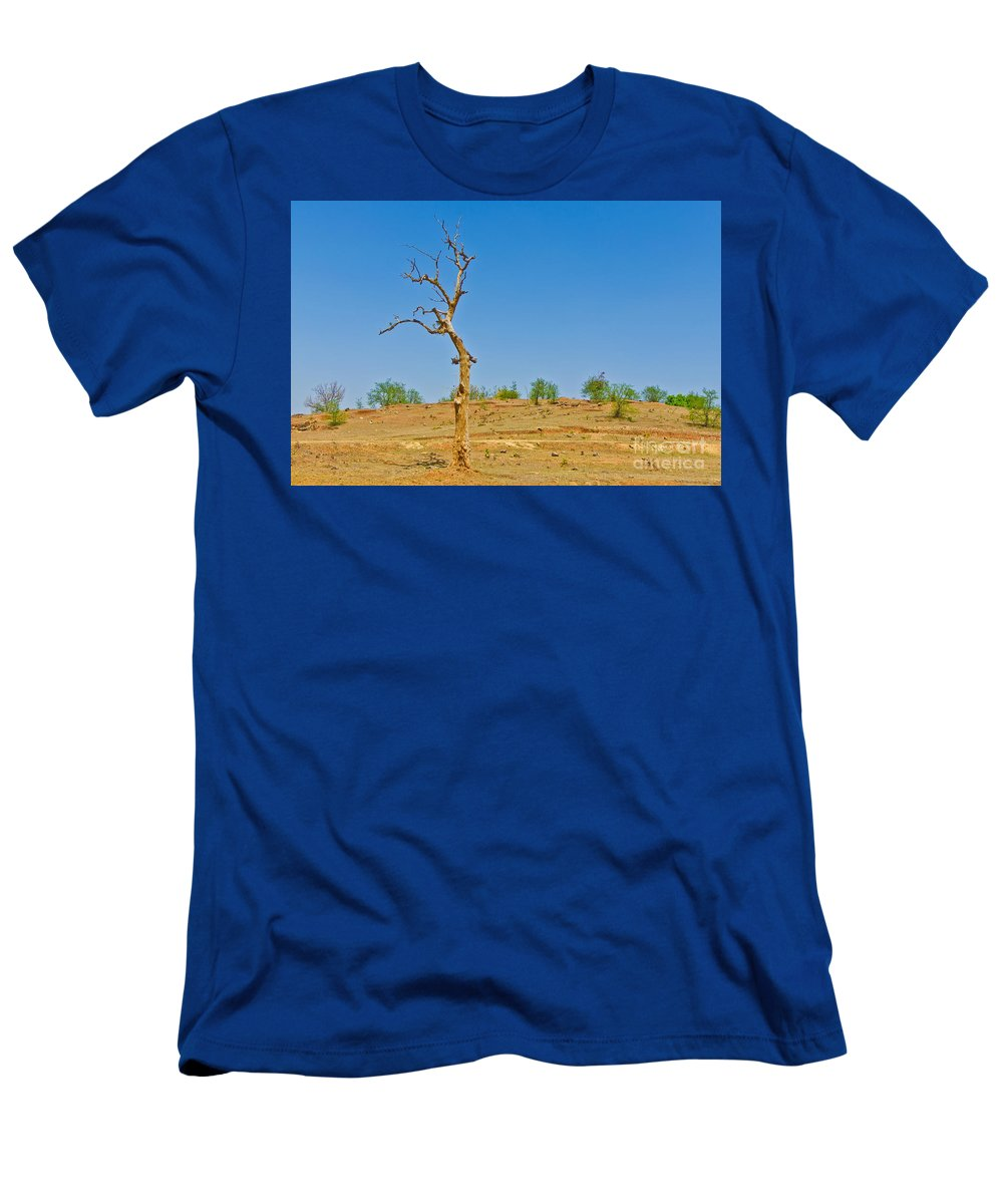 Dry Men's T-Shirt (Athletic Fit) featuring the photograph Dead Single Tree by Image World