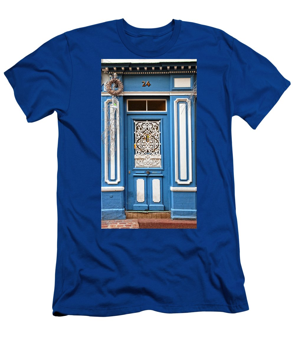 Door Men's T-Shirt (Athletic Fit) featuring the photograph Decorative Door by Dave Mills