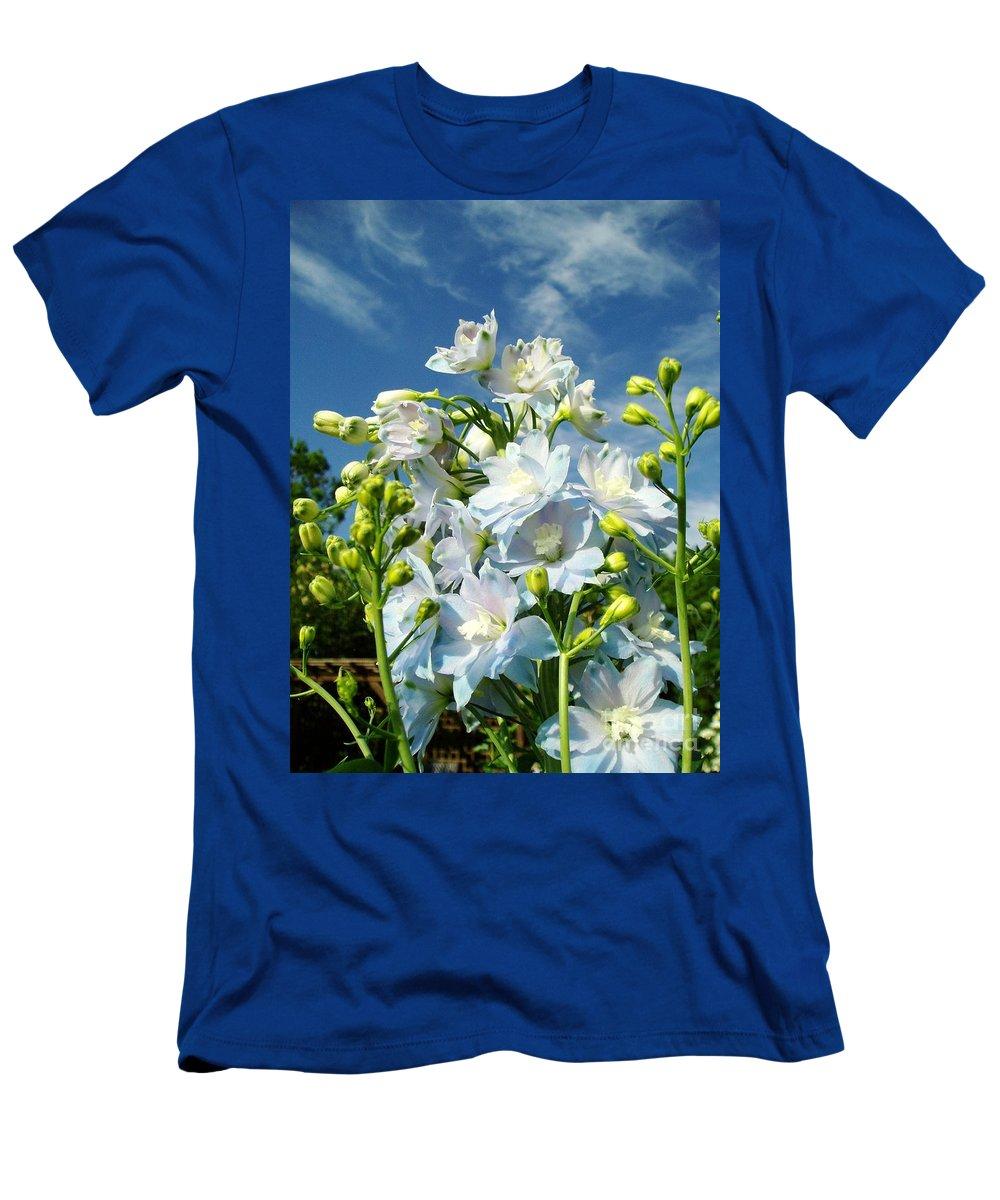 Men's T-Shirt (Athletic Fit) featuring the photograph Delphinium Sky Original by Renee Croushore
