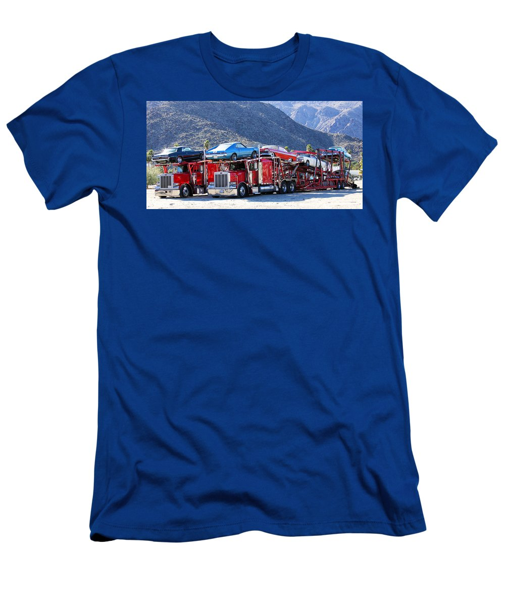 Iron Men's T-Shirt (Athletic Fit) featuring the photograph Iron Road Palm Springs by William Dey