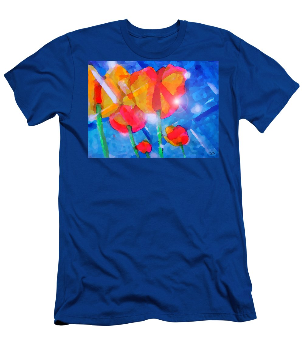 Impressionism Men's T-Shirt (Athletic Fit) featuring the painting Diamonds by Marcello Cicchini