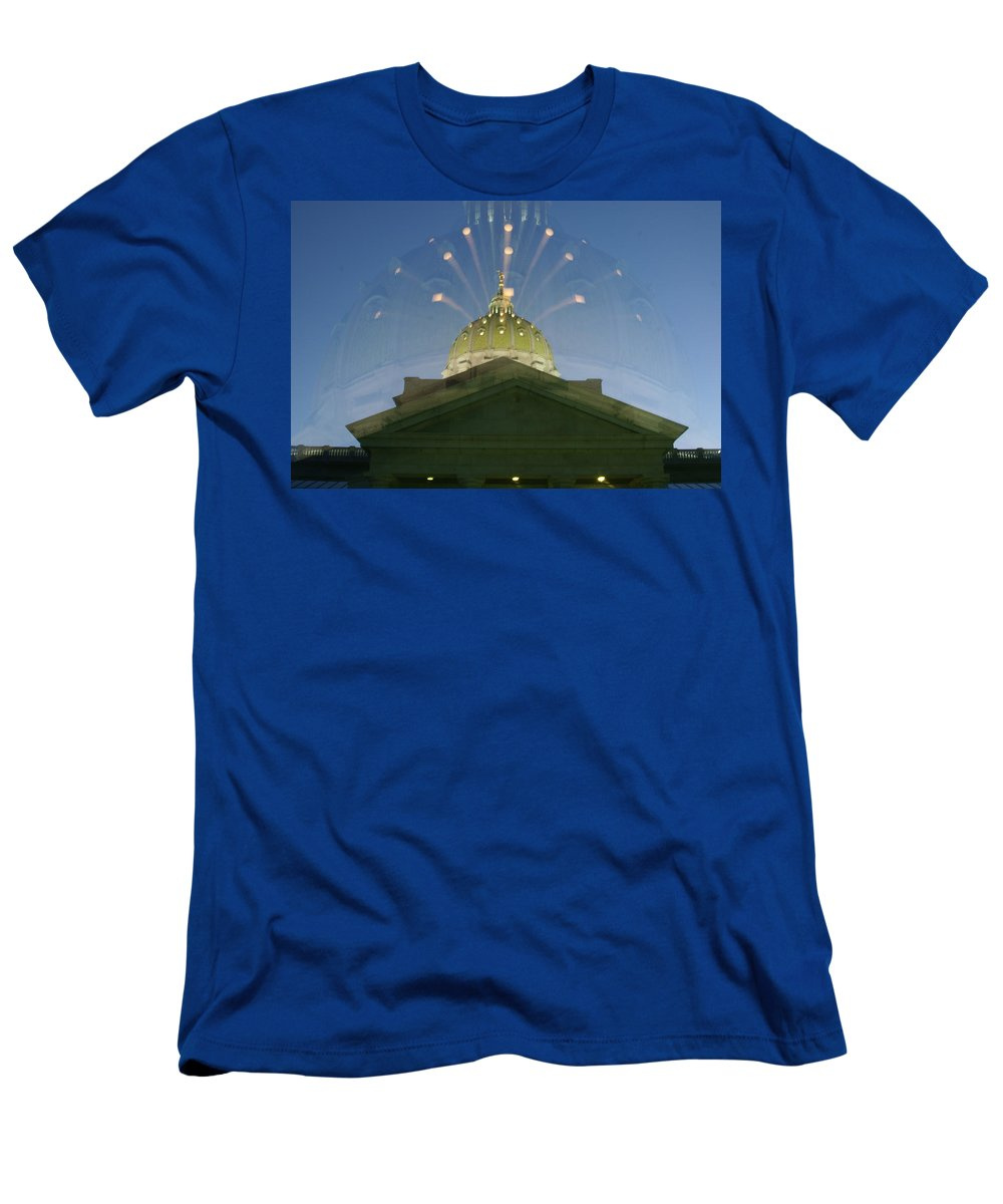 Dome Men's T-Shirt (Athletic Fit) featuring the photograph Dome Expanding by Rob Luzier