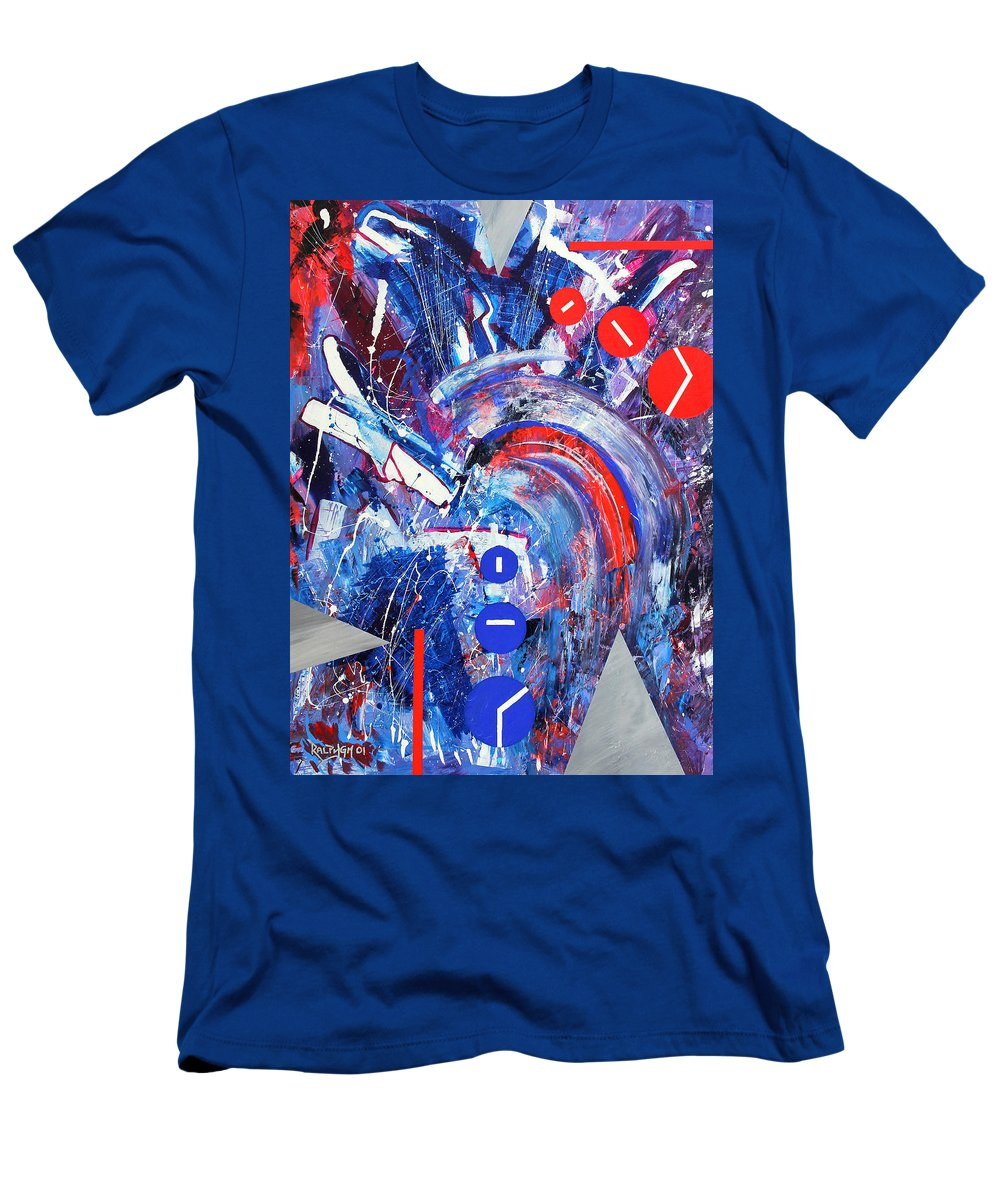 Abstract Men's T-Shirt (Athletic Fit) featuring the painting Dream Run 2001 by RalphGM