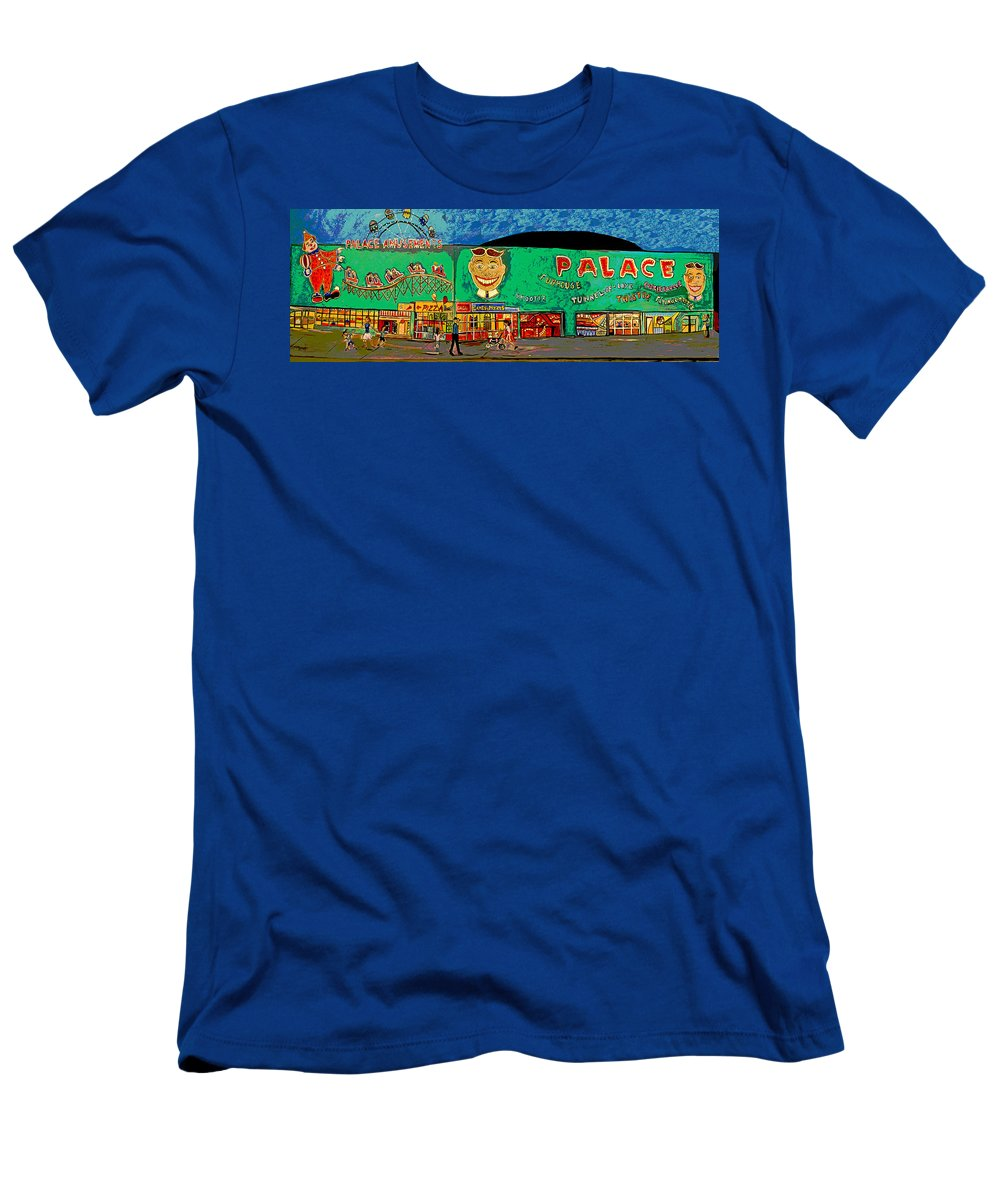 Asbury Park Palace T-Shirt featuring the painting Dreams of the Palace by Patricia Arroyo