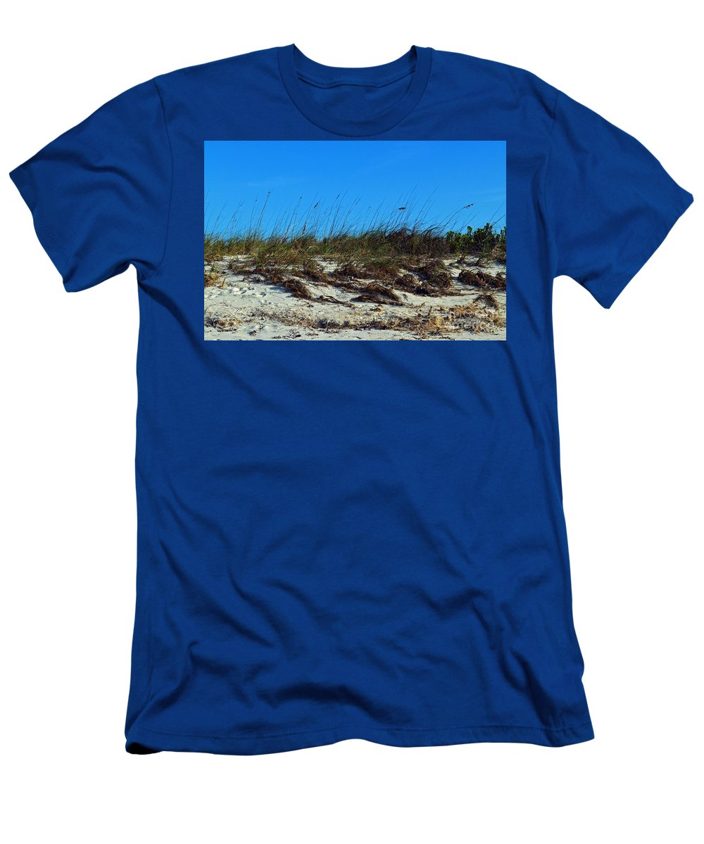 Turks And Caicos Men's T-Shirt (Athletic Fit) featuring the photograph Dunes Of Turks by Judy Wolinsky