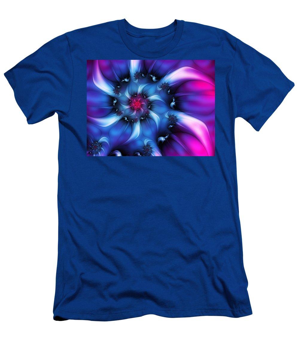 Digital Art Men's T-Shirt (Athletic Fit) featuring the digital art Electric Colours by Gabiw Art