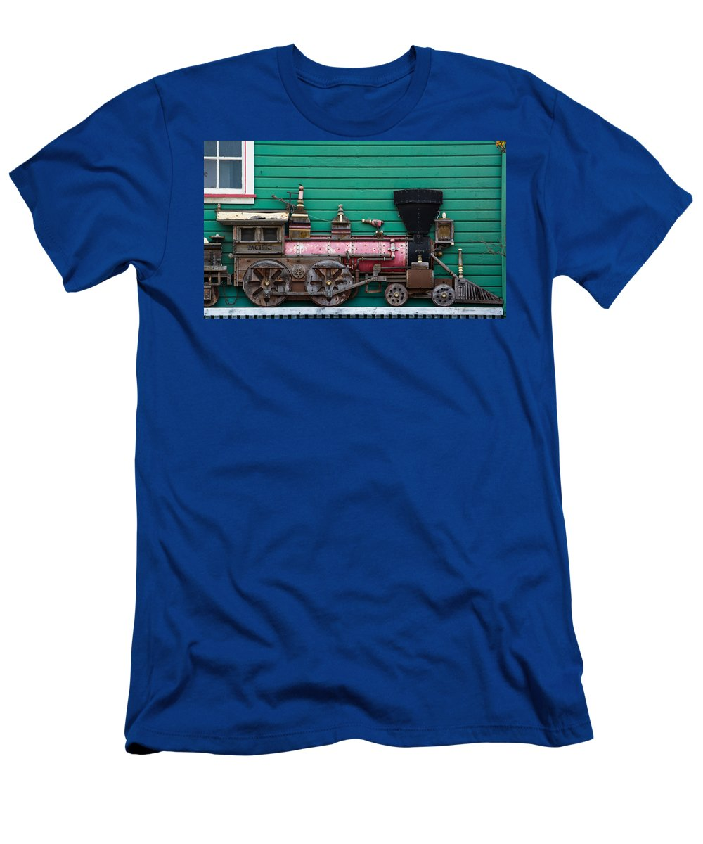 Train Photographs Men's T-Shirt (Athletic Fit) featuring the photograph Engine Number 23 Unframed by Tikvah's Hope