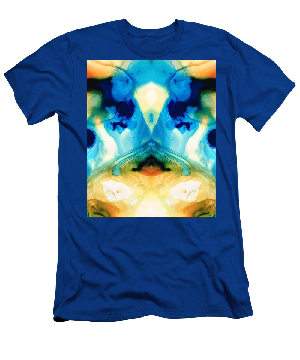 Enlightened Men's T-Shirt (Athletic Fit) featuring the painting Enlightenment - Abstract Art By Sharon Cummings by Sharon Cummings