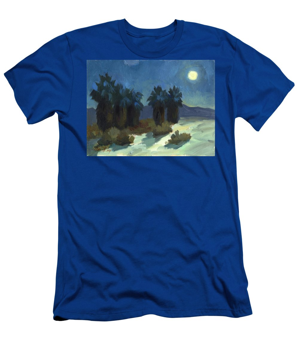 Evening Solitude Men's T-Shirt (Athletic Fit) featuring the painting Evening Solitude by Diane McClary