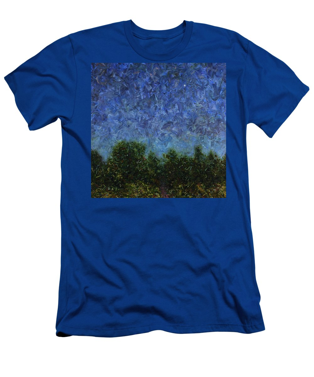 Square Men's T-Shirt (Athletic Fit) featuring the painting Evening Star - Square by James W Johnson