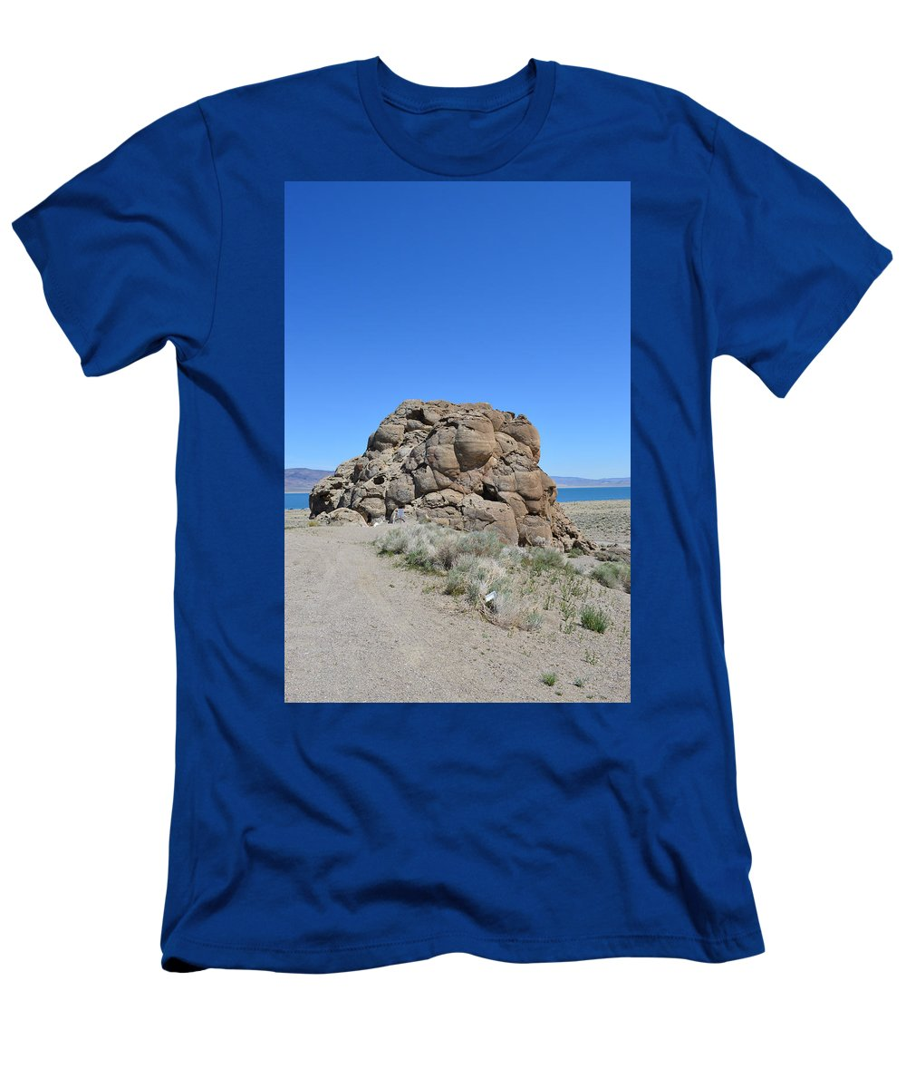 Rock Men's T-Shirt (Athletic Fit) featuring the photograph Exploring by Brent Dolliver