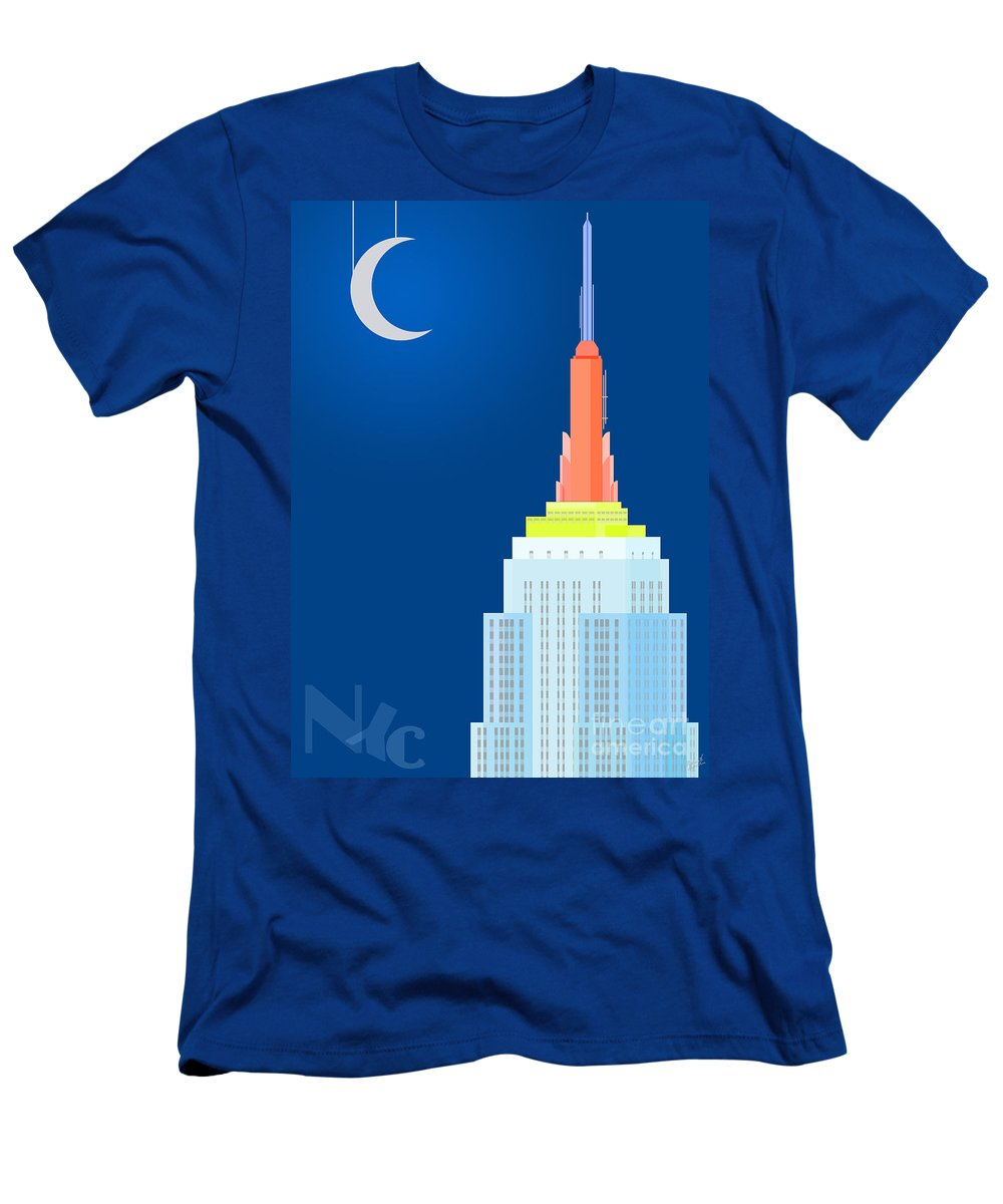 Empire State Building Vector Men's T-Shirt (Athletic Fit) featuring the digital art Fables And Fairy Tales by Nishanth Gopinathan