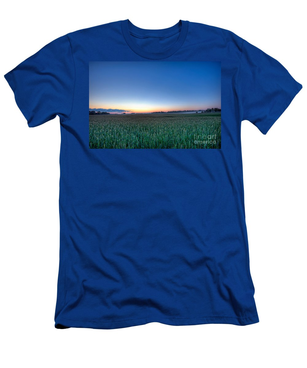 Landscape Men's T-Shirt (Athletic Fit) featuring the photograph Field Of Dreams by Michael Ver Sprill