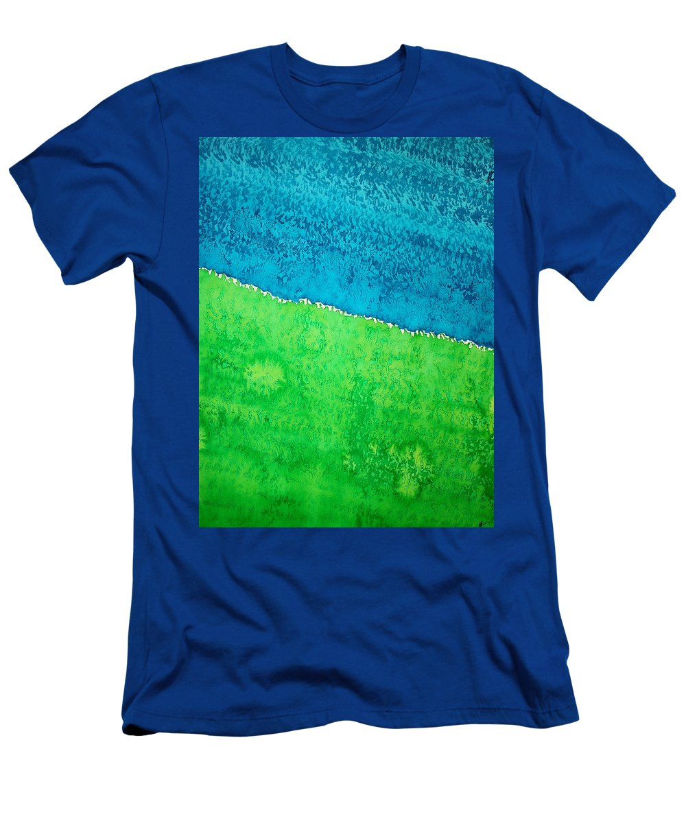 Field Of Dreams Men's T-Shirt (Athletic Fit) featuring the painting Field Of Dreams Original Painting by Sol Luckman