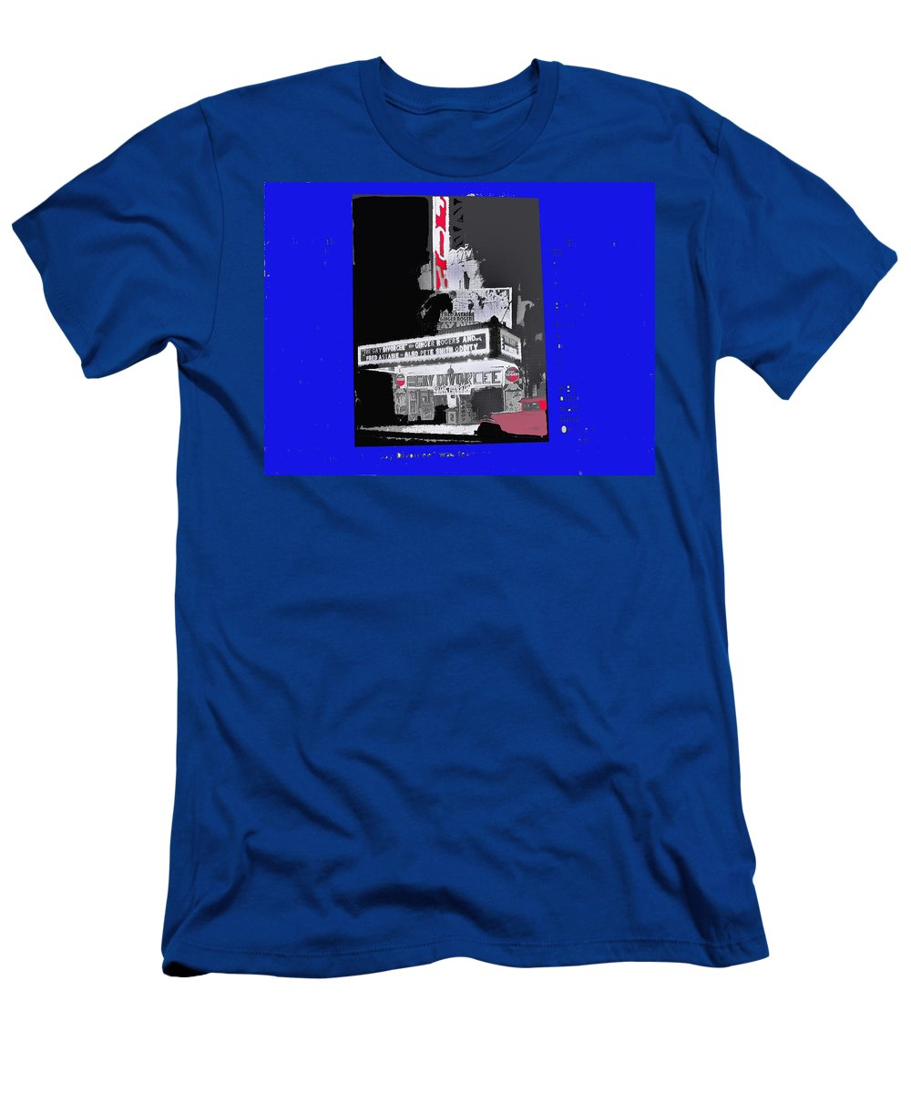 Film Homage Astaire Rogers The Gay Divorcee Collage Rko Radio Fox Tucson 1934 Color Added Men's T-Shirt (Athletic Fit) featuring the photograph Film Homage Astaire Rogers The Gay Divorcee Collage Rko Radio Fox Tucson 1934-2012 by David Lee Guss