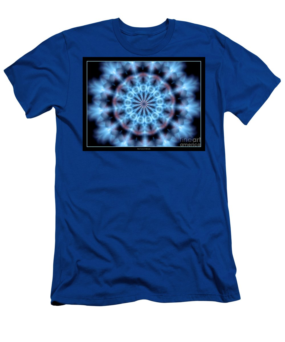 Snowflake Men's T-Shirt (Athletic Fit) featuring the photograph Flames Kaleidoscope 4 by Rose Santuci-Sofranko