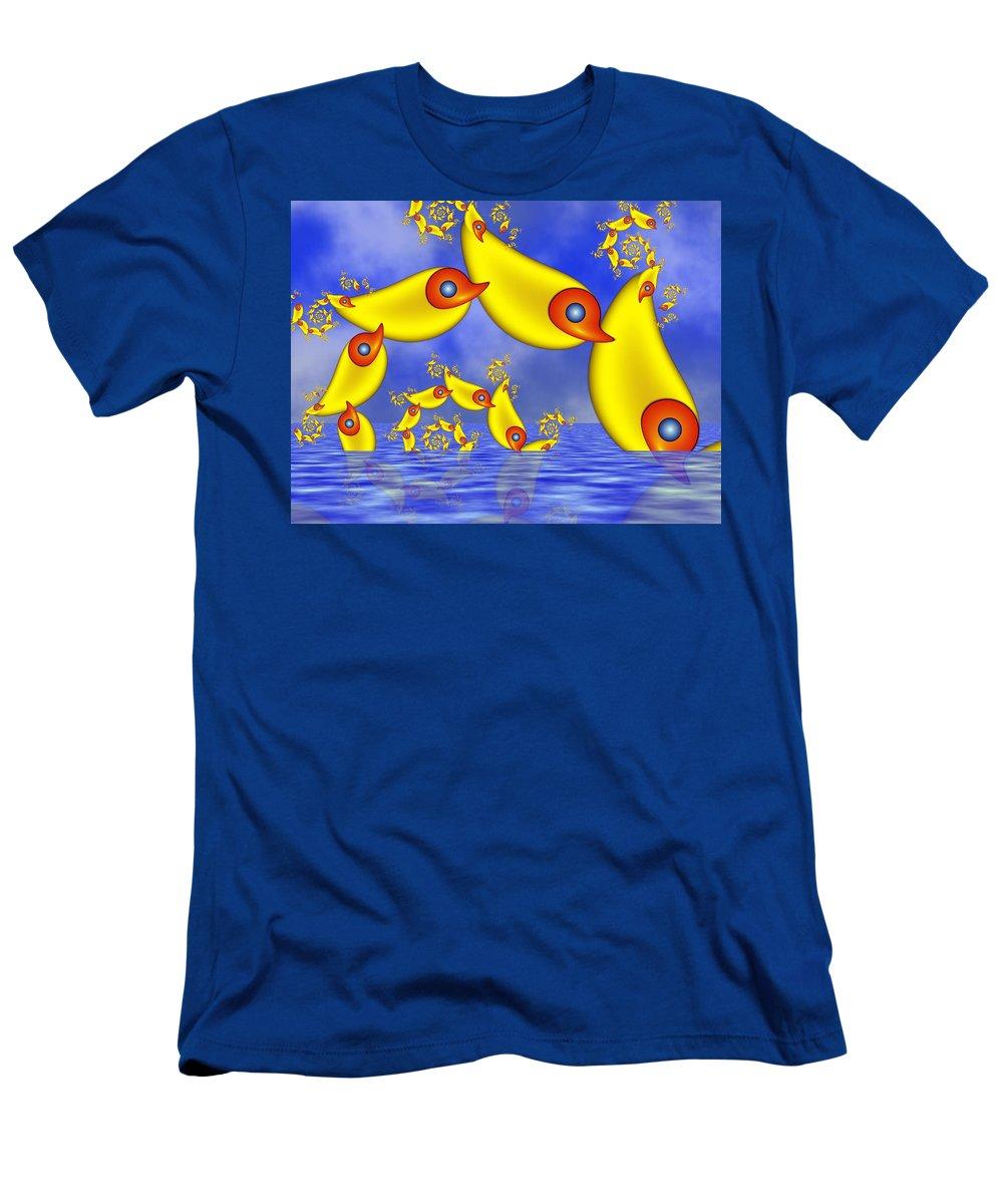 Childsroom Men's T-Shirt (Athletic Fit) featuring the digital art Jumping Fantasy Animals by Gabiw Art