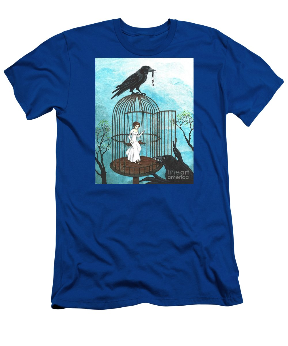 Print Men's T-Shirt (Athletic Fit) featuring the painting Freedom by Margaryta Yermolayeva