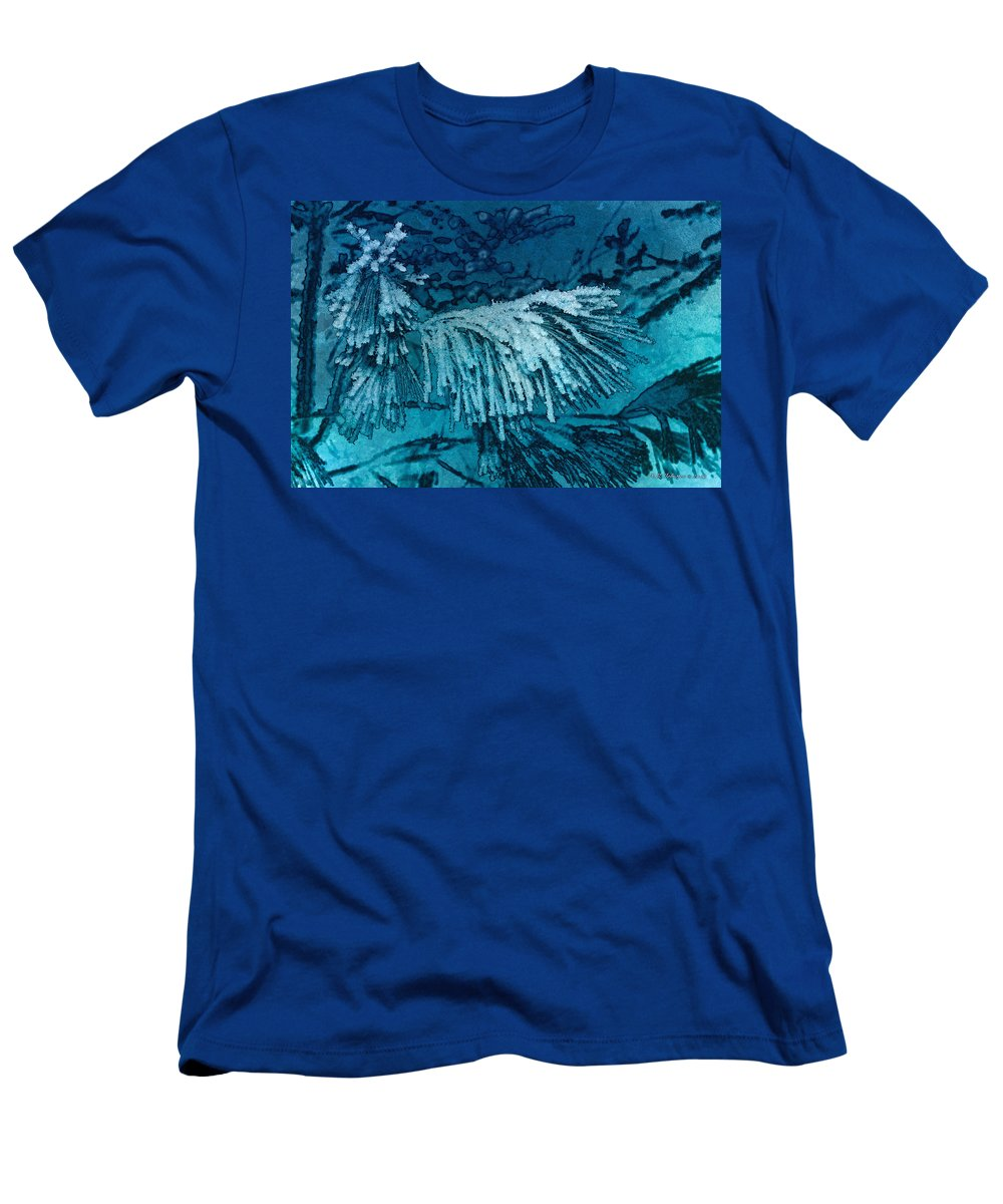 Frost Men's T-Shirt (Athletic Fit) featuring the photograph Frost Needles 2 by WB Johnston