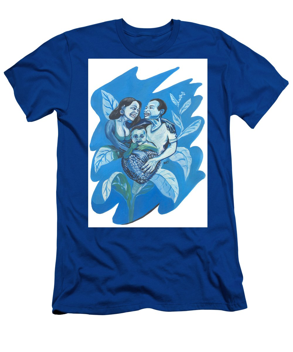Travel Men's T-Shirt (Athletic Fit) featuring the painting Fruit Of Love by Emmanuel Baliyanga